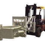 Forklift dekk meðhöndlun viðhengi Sjónauki hjólbarða klemmur