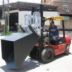 3 tonna Hyundai Diesel Forklift Festingarskófla Hengdur gaffal og fötu